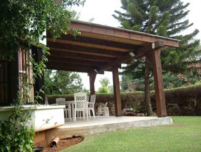 פרגולות מעץ לגינה או המרפסת
