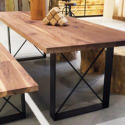 שולחן מעץ טבעי, ריהוט מעץ טבעי, ריהוט עץ, שולחן עץ מלא